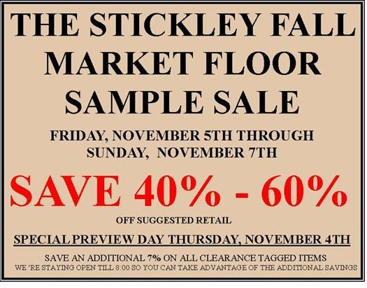 Market Floor Sample Sale Stickley Furniture